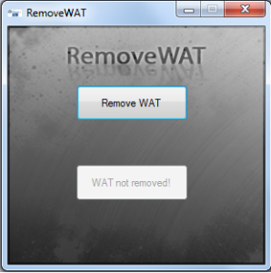 RemoveWAT 2.2.9 100% Windows 7,8 Activator