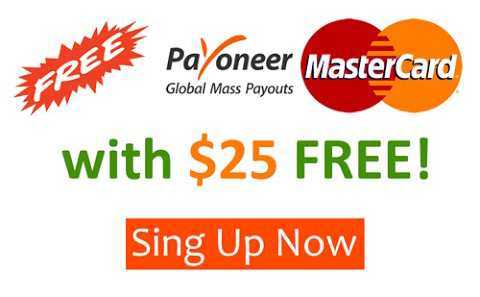 Payoneer Master Card With free 25$ Bonus