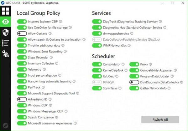 WPD (WINDOWS PRIVACY DASHBOARD) 1.1.512 Full Version