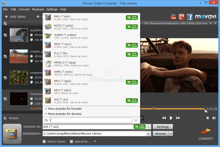 Movavi Video Converter 18.1.1 Activation Key & Crack Free Download