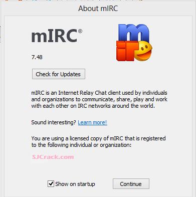mIRC 7.52 Crack Incl Registration Code Free Download