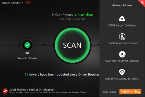 Driver Booster PRO 5.3.0 Crack + Keygen Free Download