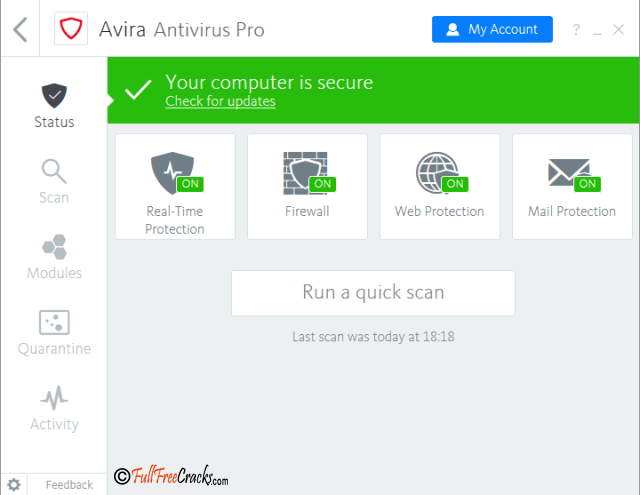 Avira Antivirus Pro 15.0.37.326 Full Version