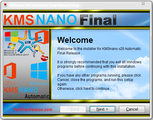KmsNano Windows 8.1 Activator Full Version Free Download